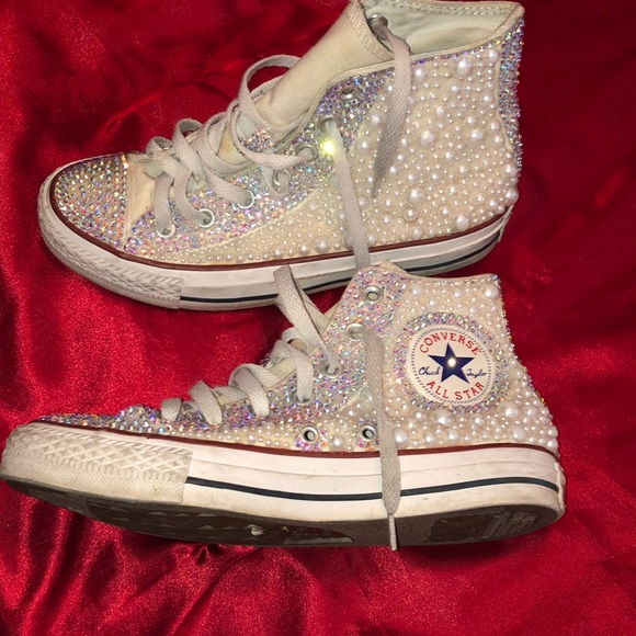 Bedazzled White Converse